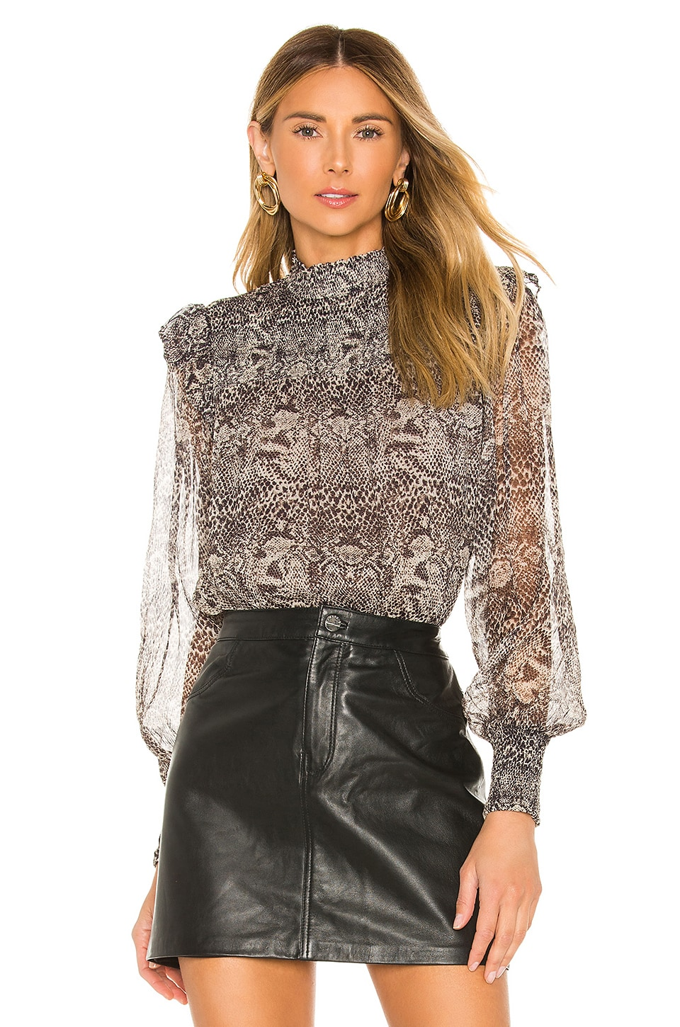 Free People BLUSA TRANSPARENTE ROMA