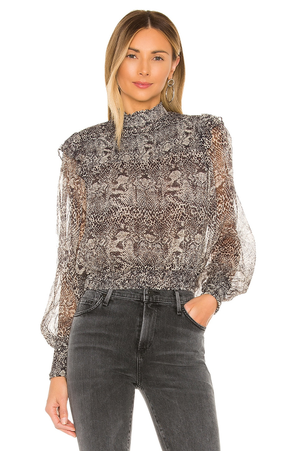 Free People Roma Blouse in Black