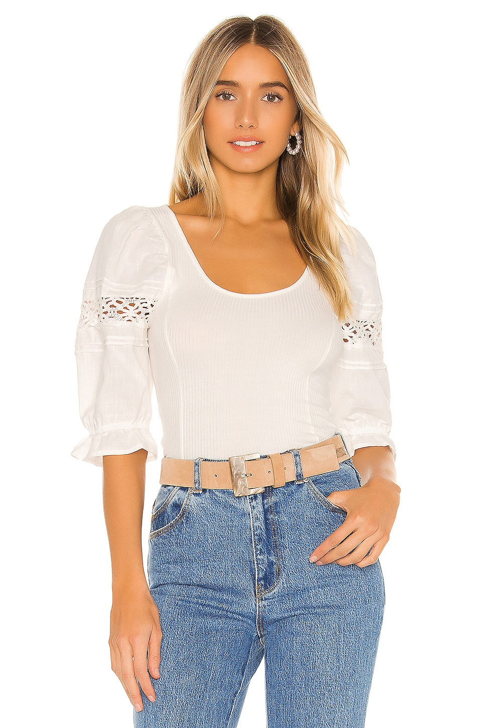 Free People BLUSA SOMETHING SPECIAL