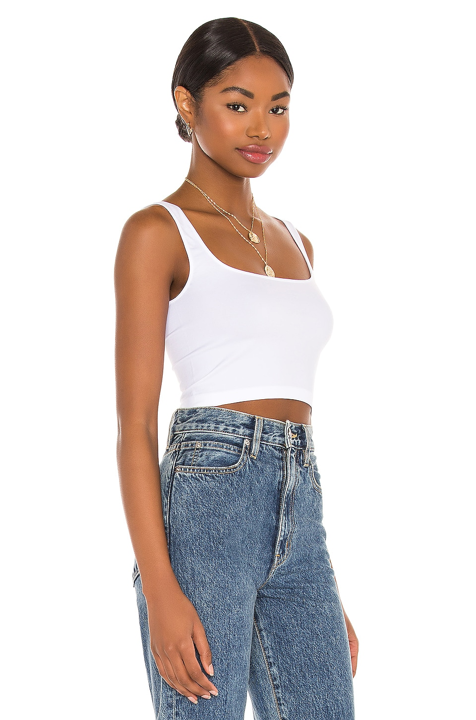 Scoop Neck Crop Top, view 2, click to view large image.