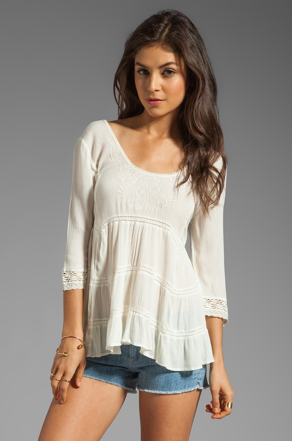 Free People Novella Top in Ivory