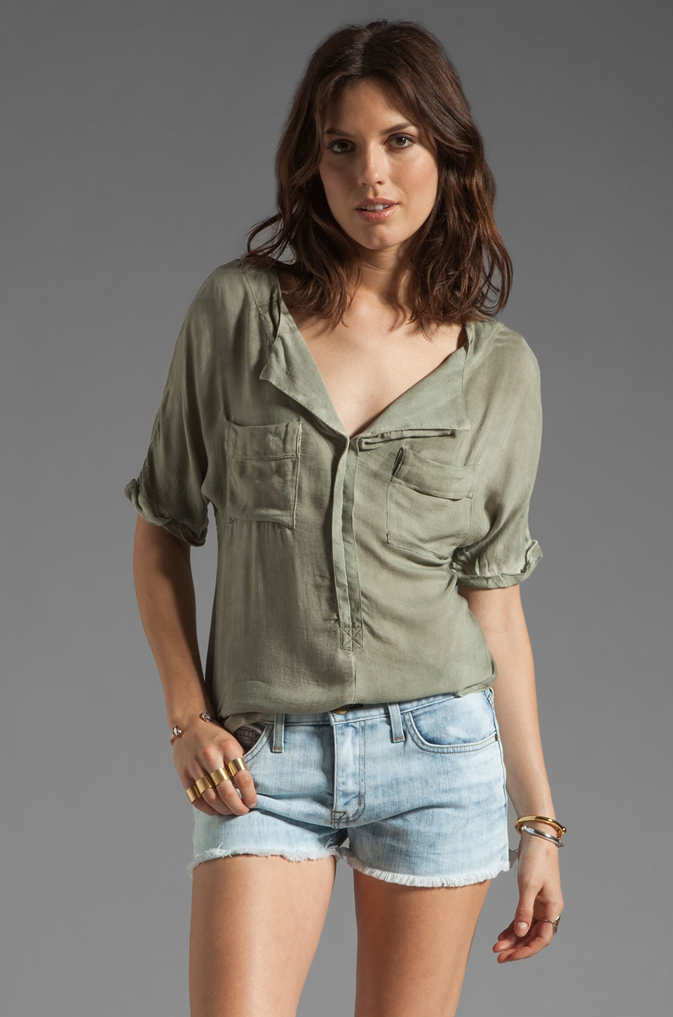 Free People American Pie Top in Camo