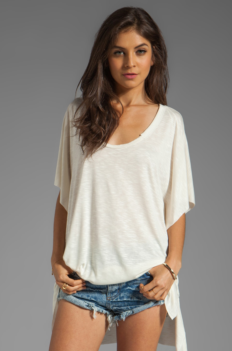 Free People Big Moment Tee in Cream