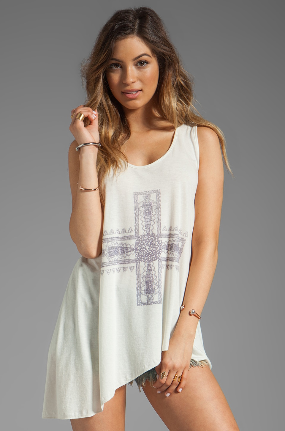 Free People Waterful Tank in Ivory Combo