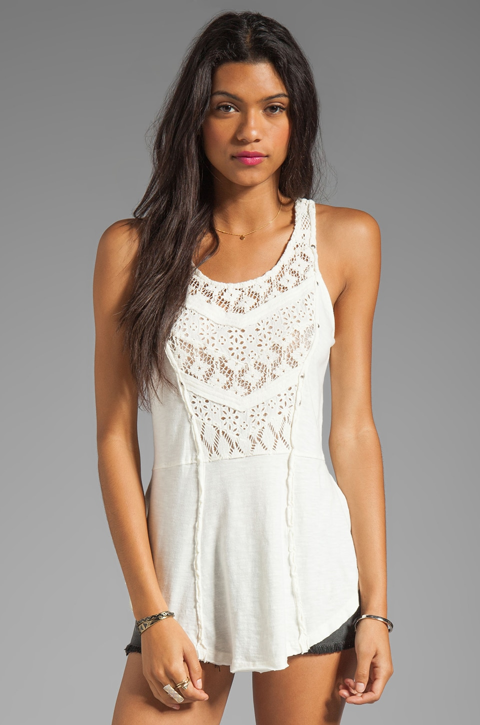 Free People Day Tripper Tank in White