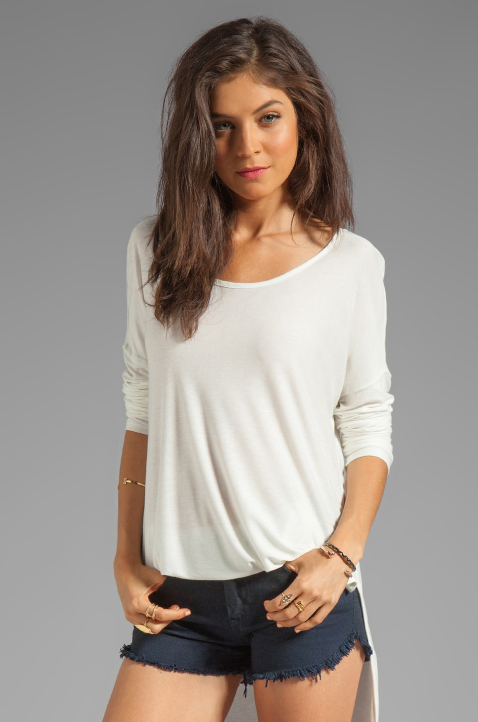 Free People Rain Drop Tee in White