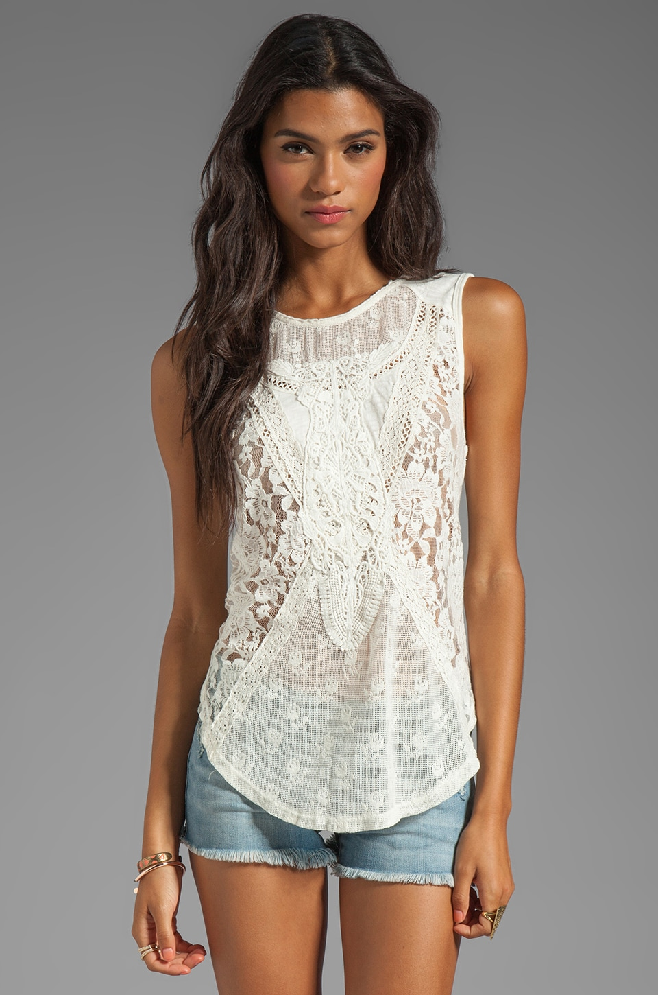 Free People Not So Sweet Victorian Top in Ivory