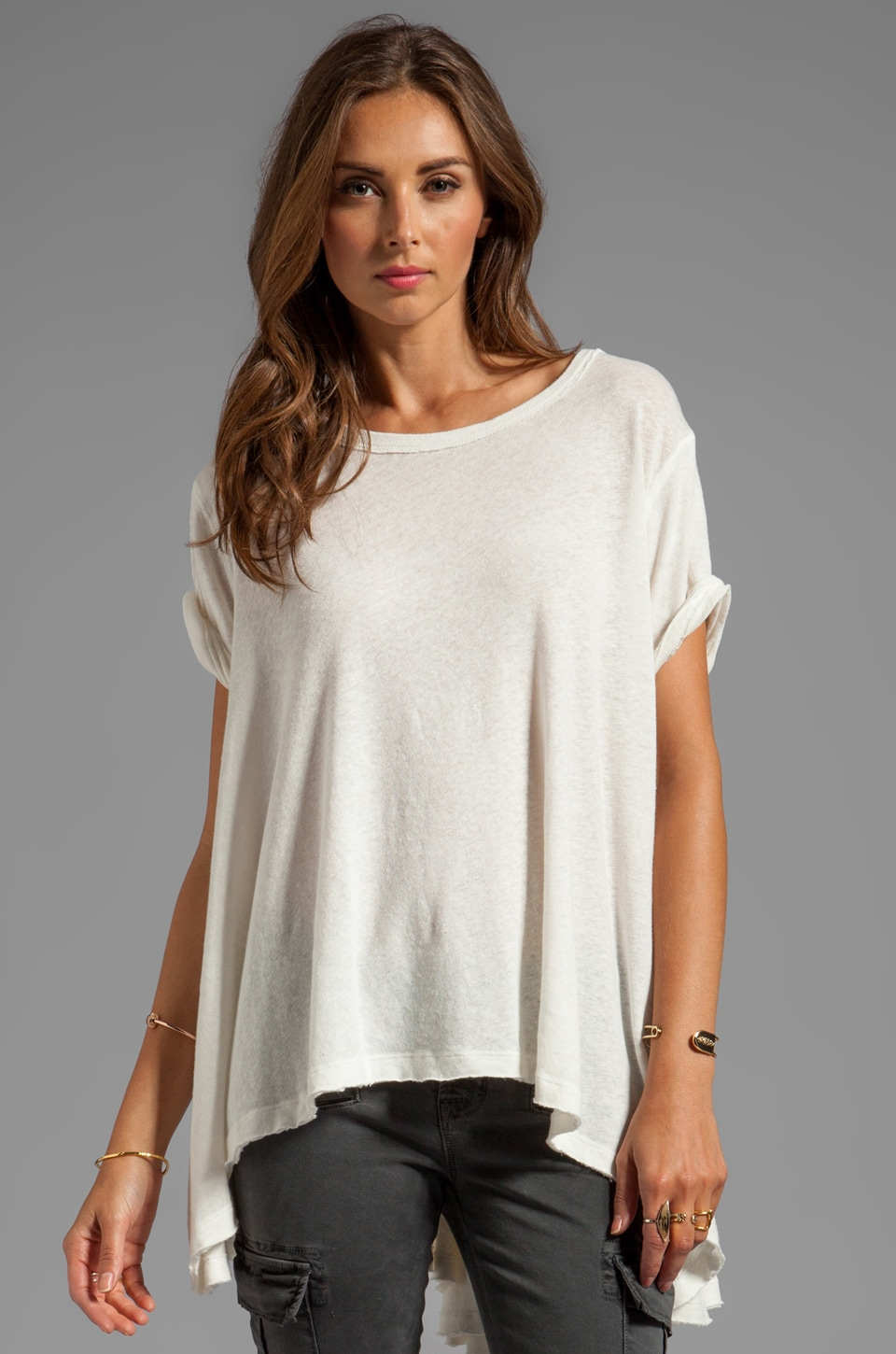 Free People Circle in the Sand Tee in Ivory
