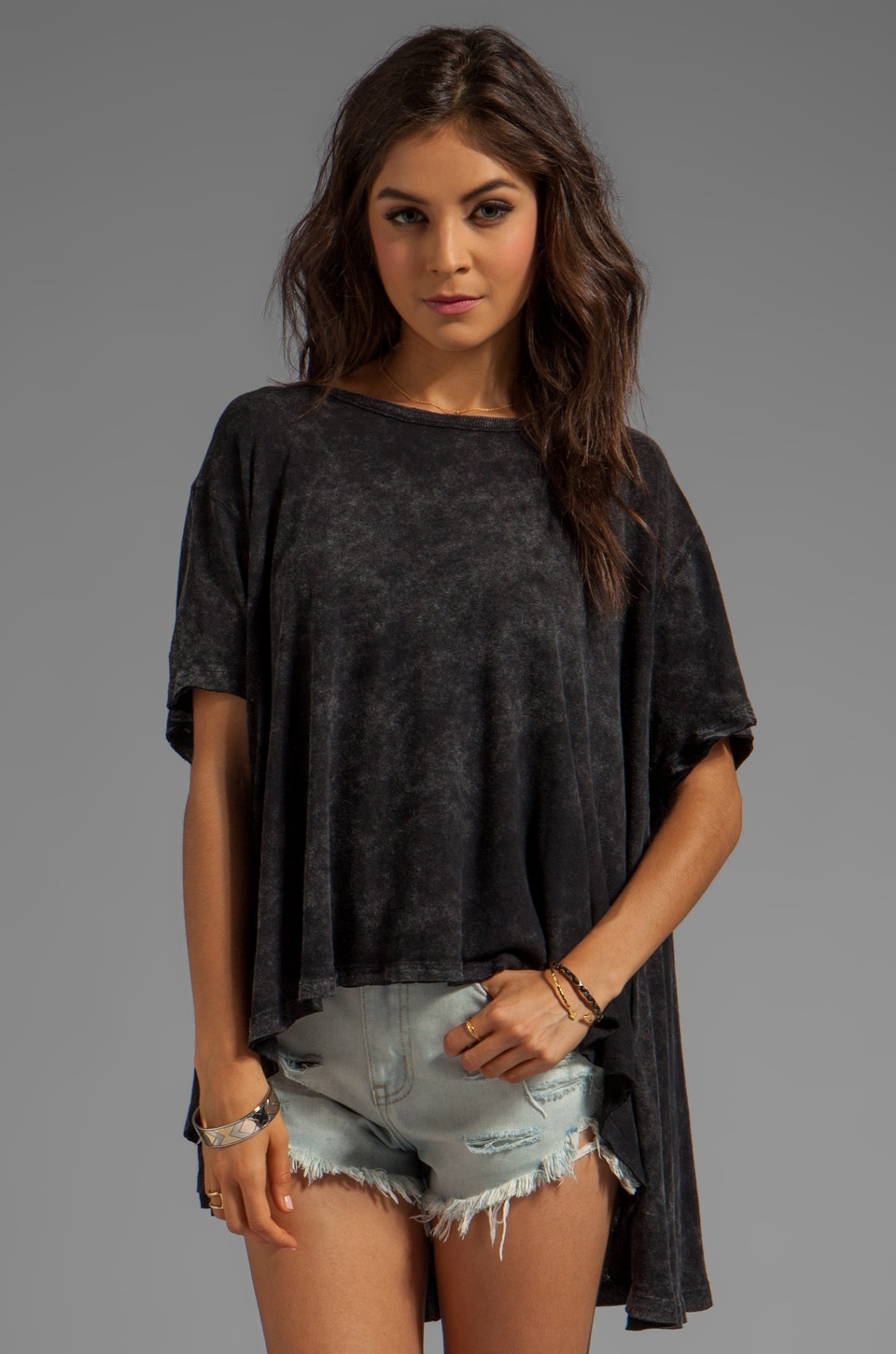 Free People Circle in the Sand Tee in Black