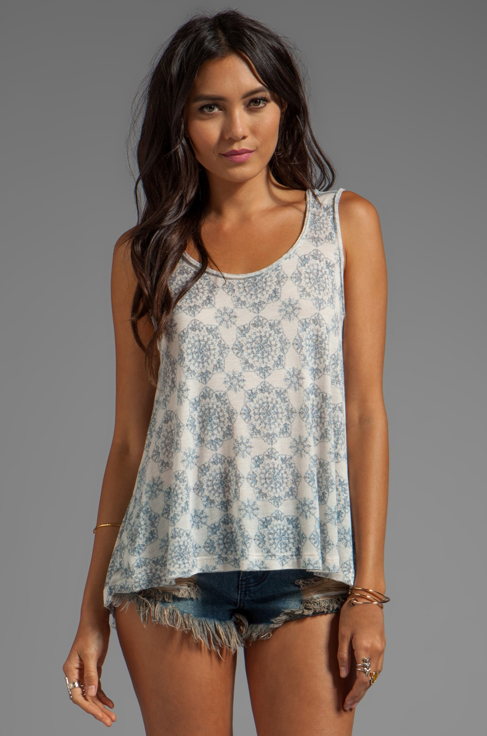 Free People Topanga Tank in Tea Combo