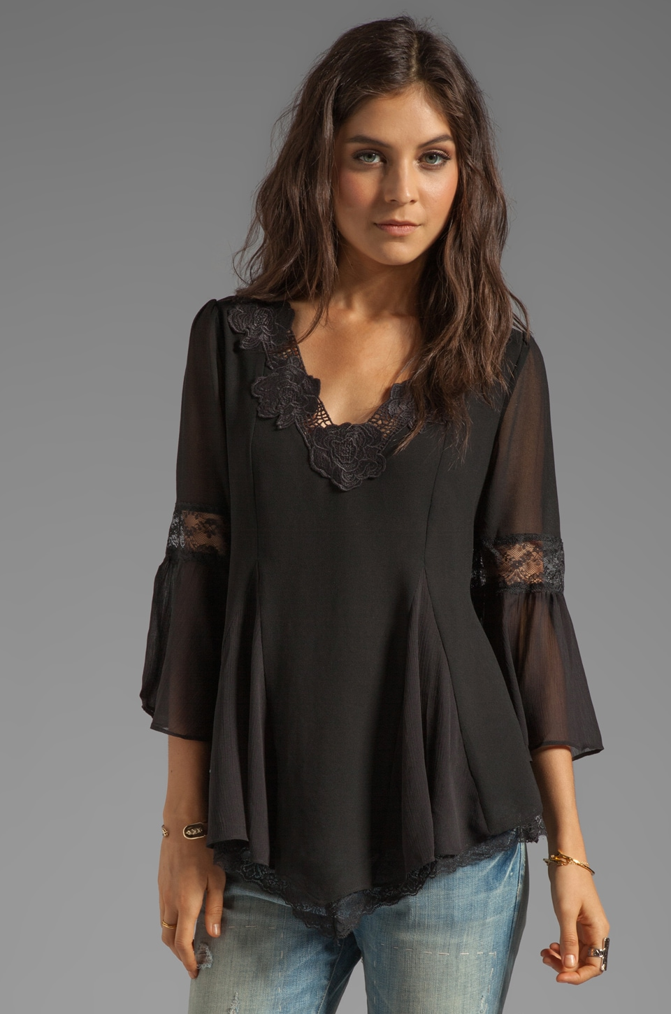 Free People Always In Love Top in Black