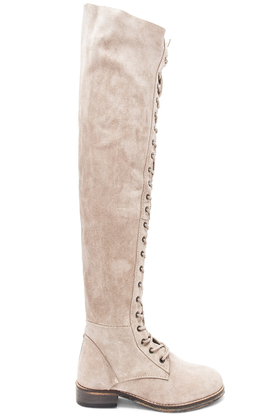 Free People Tennessee Lace Up Boot in Grey
