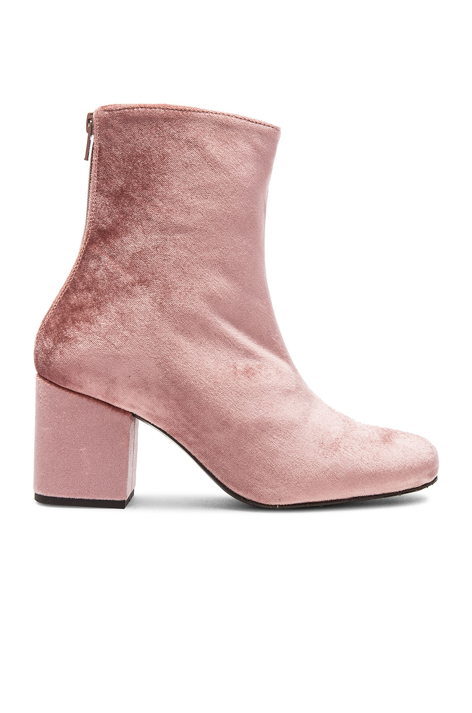 Free People Velvet Cecile Bootie in Rose