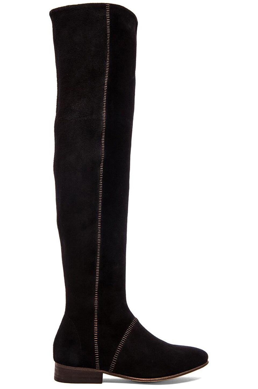 Free People Grandeur Over the Knee Boot in Black