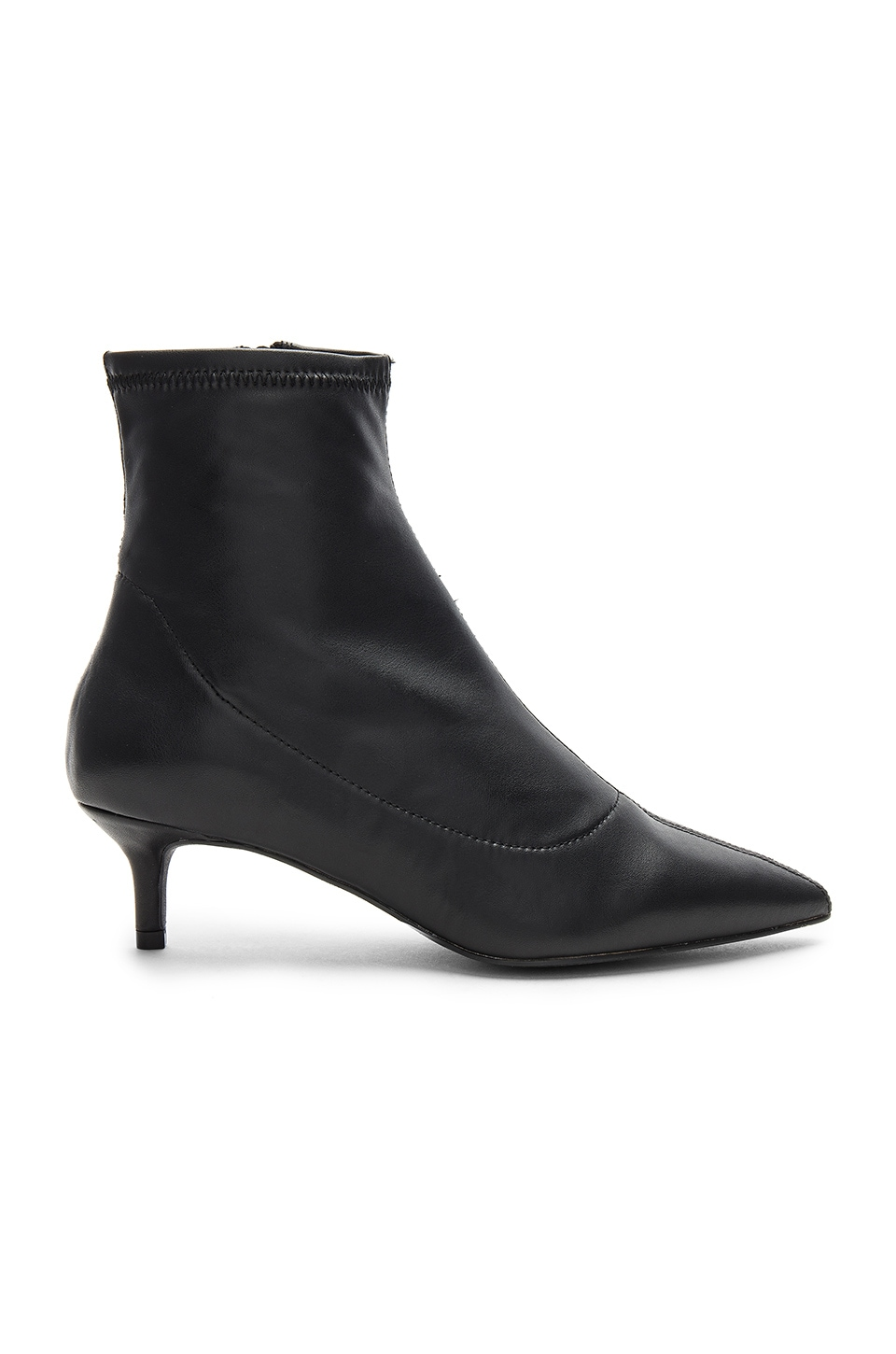 Free People Marilyn Kitten Heel Boot in Black
