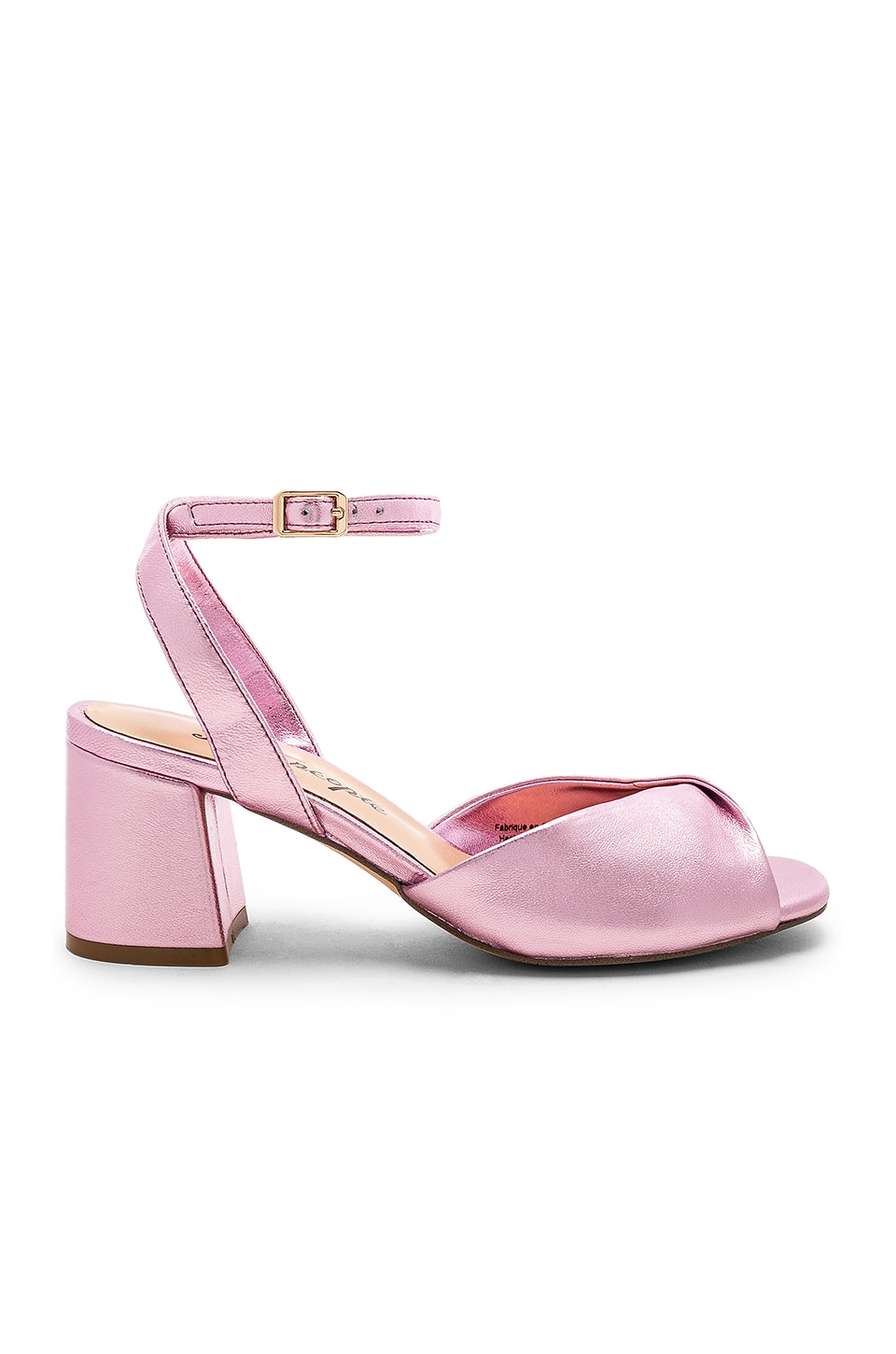 Free People Gisele Block Heel Sandal in Pink