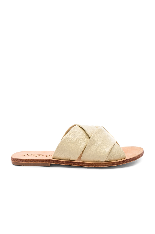 Free People Rio Vista Slide Sandal in Cream