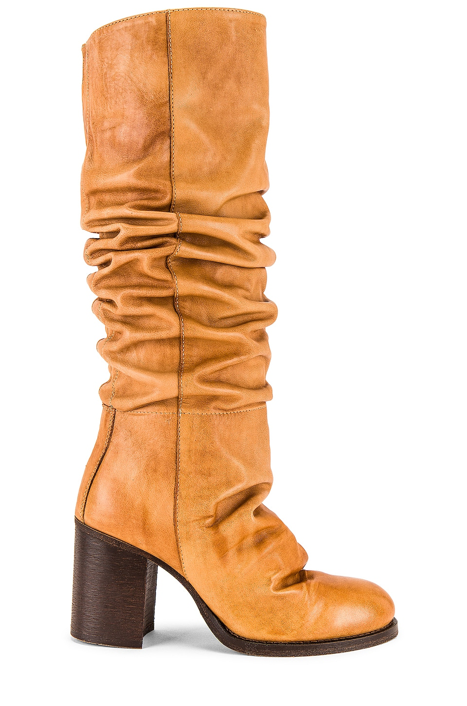 Free People Tall Slouch Boot in Tan