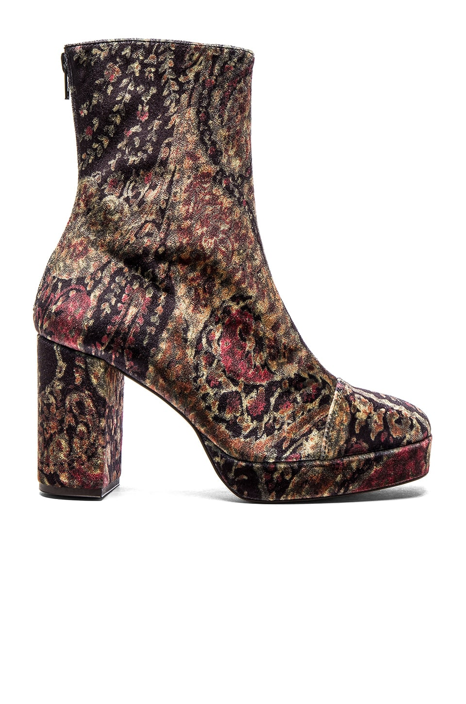 Free People Day For Night Platform Boot in Paisley Combo