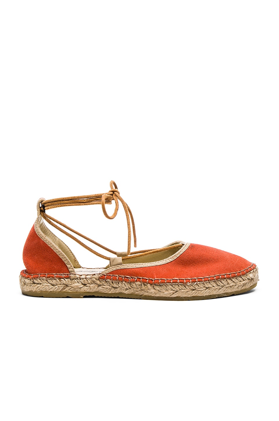 Free People Marina Lace Up Espadrille in Coral