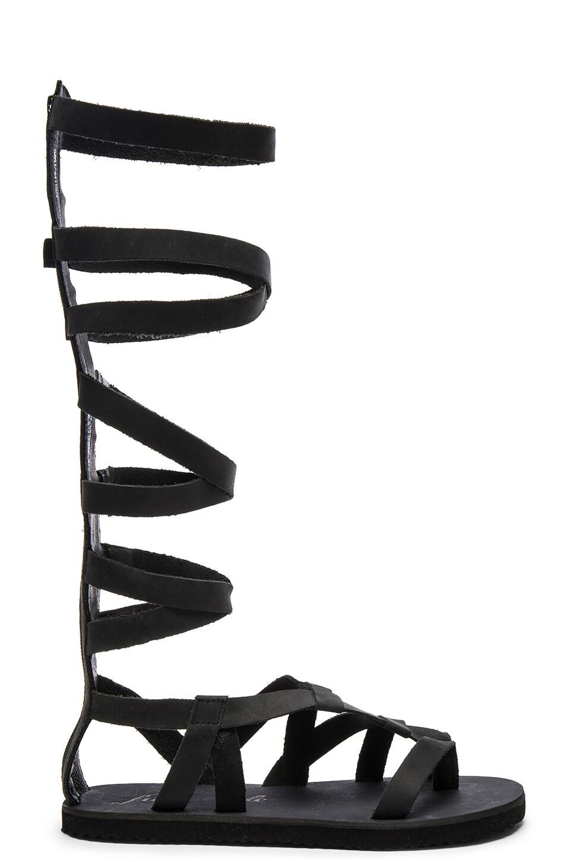 Free People Cynder Gladiator Sandal in Black