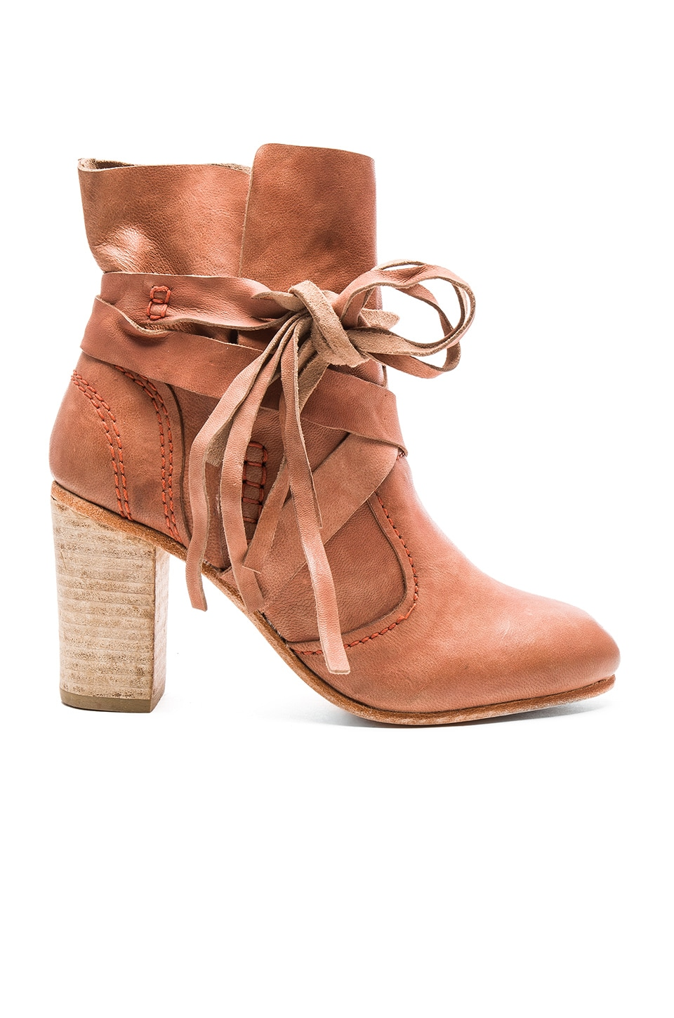 Free People Seven Wonders Booties in Brick