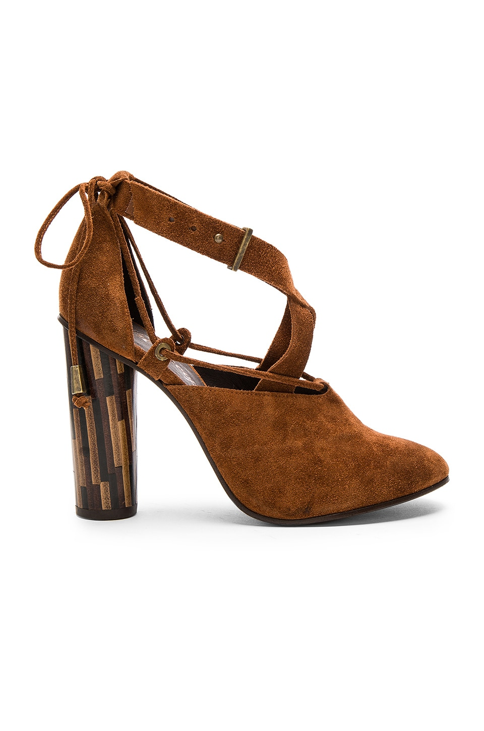 Free People Nouvella Wrap Heels in Brown