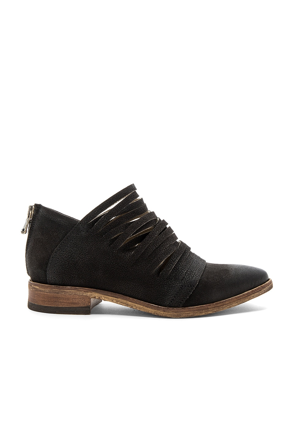 Free People Lost Valley Ankle Boot in Washed Black