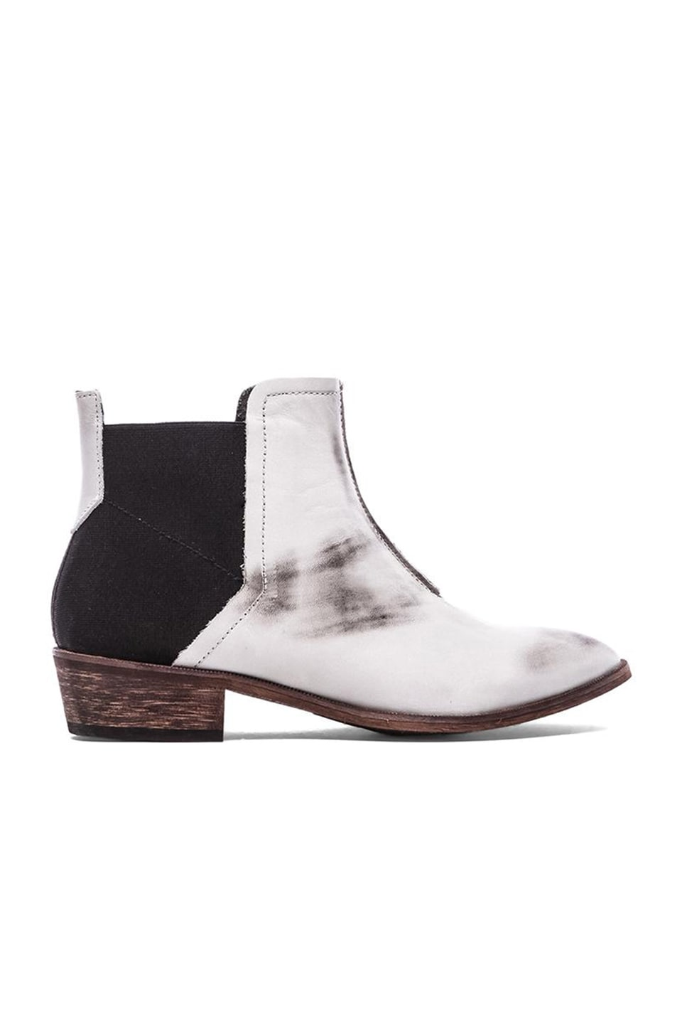 Free People Dark Horse Ankle Boot in White