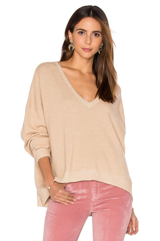 Varsity Oversized V Neck Sweater by Frankie