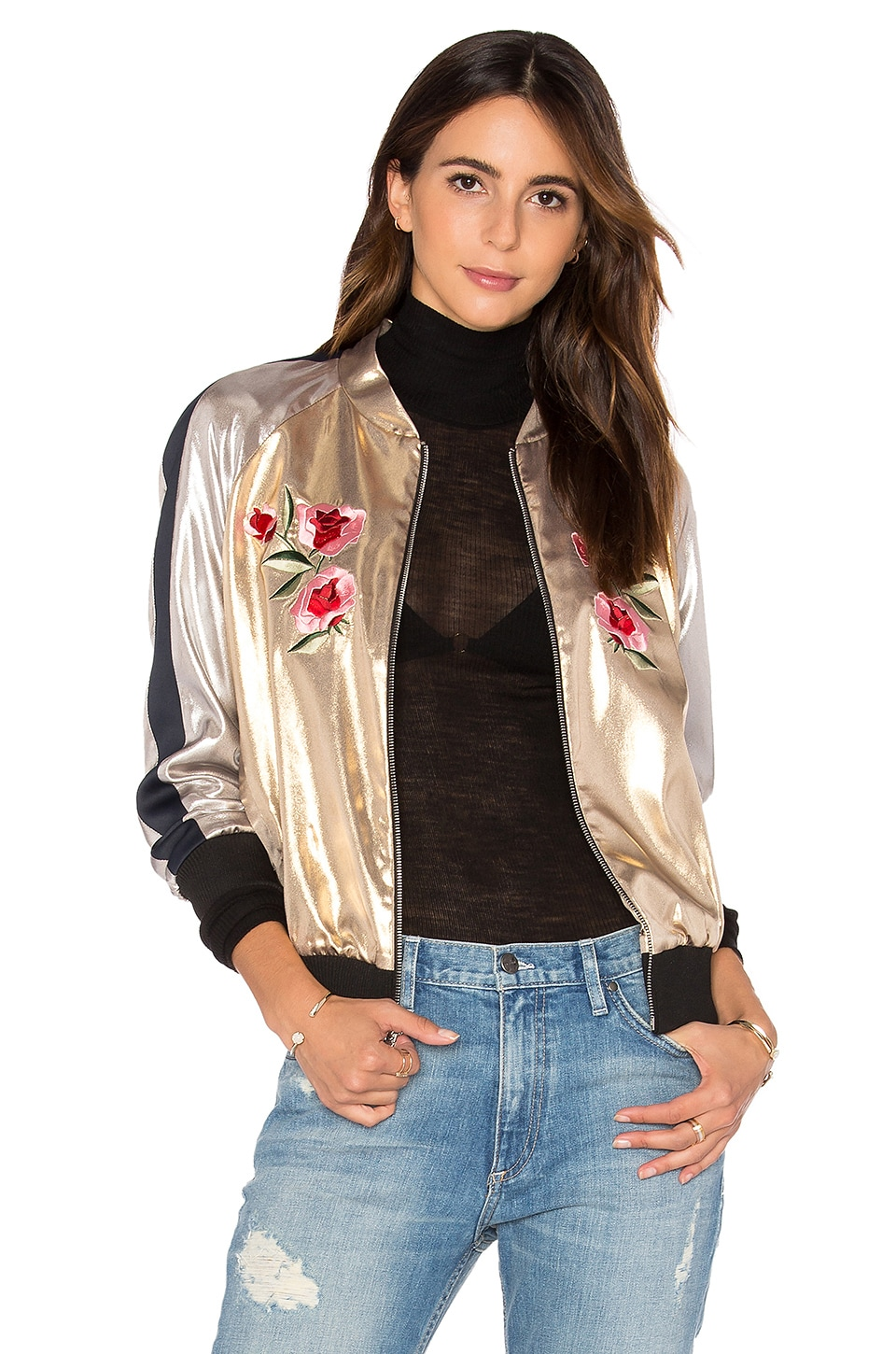 Embroidered Bomber Jacket by Frankie
