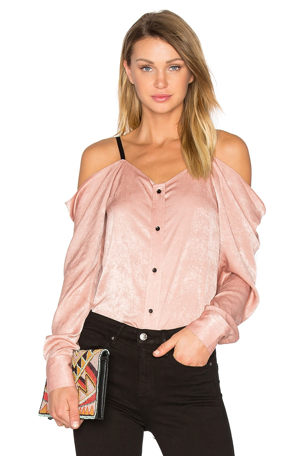Satin Off The Shoulder Top by Frankie