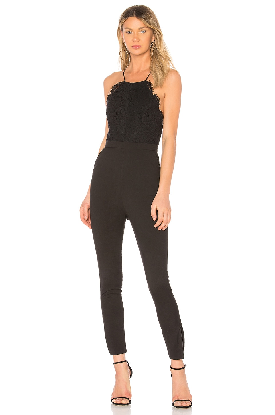 FAME AND PARTNERS The Shona Jumpsuit in Black