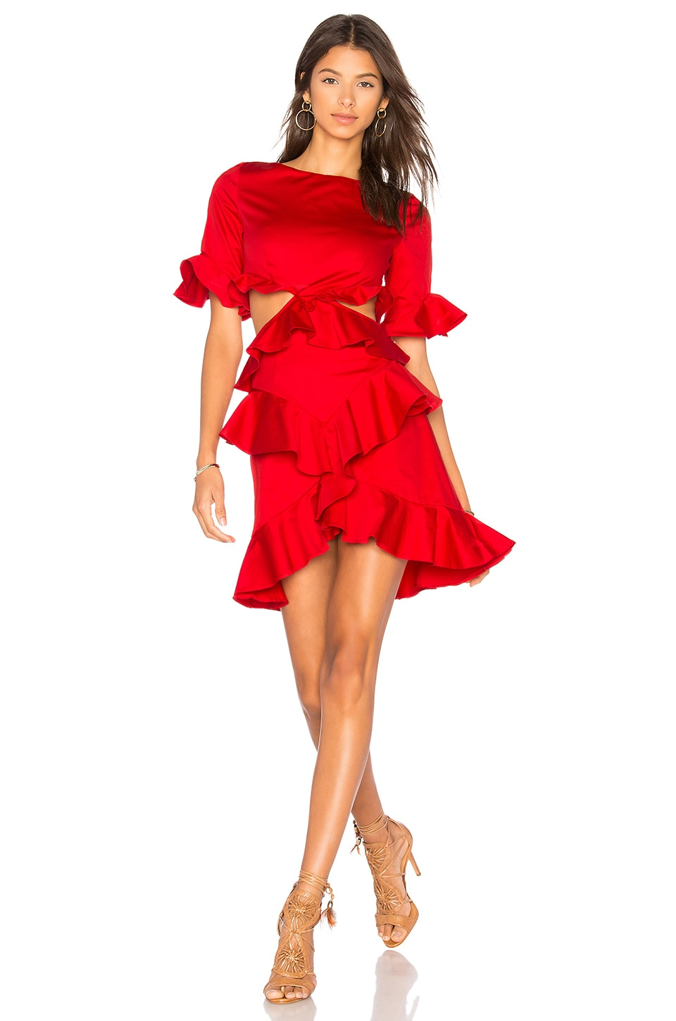 x REVOLVE Xavier Ruffle Dress by FAME AND PARTNERS
