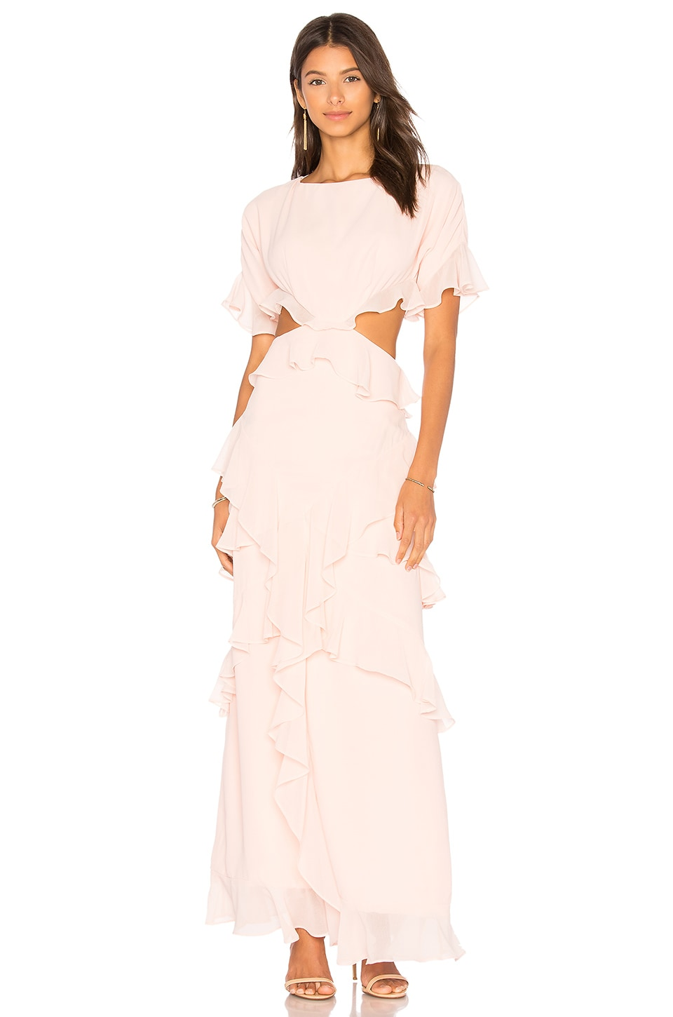 x REVOLVE Marisa Ruffle Dress by FAME AND PARTNERS