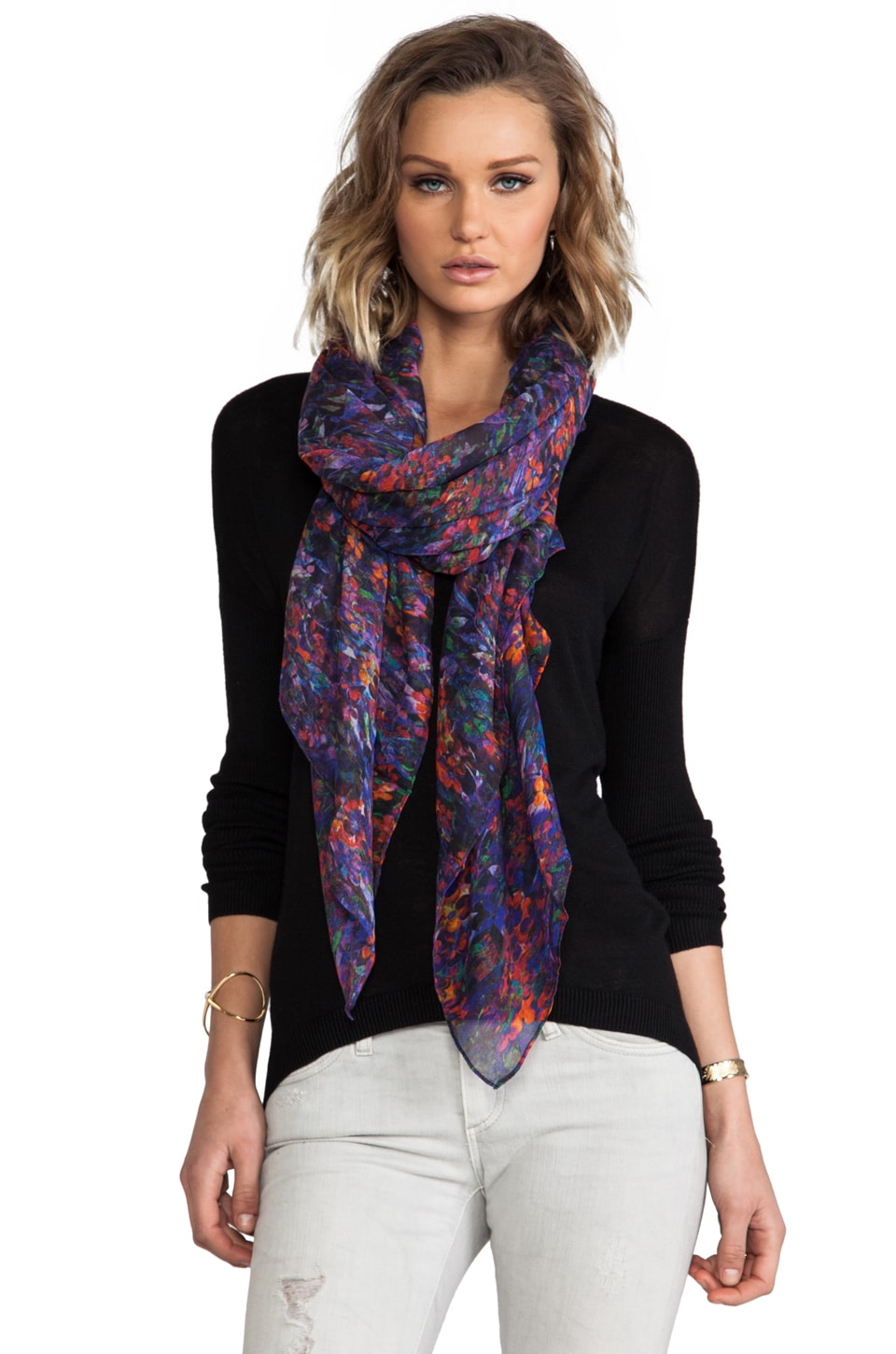 FRONT ROW SOCIETY Cashmere Blend Scarf in Flora