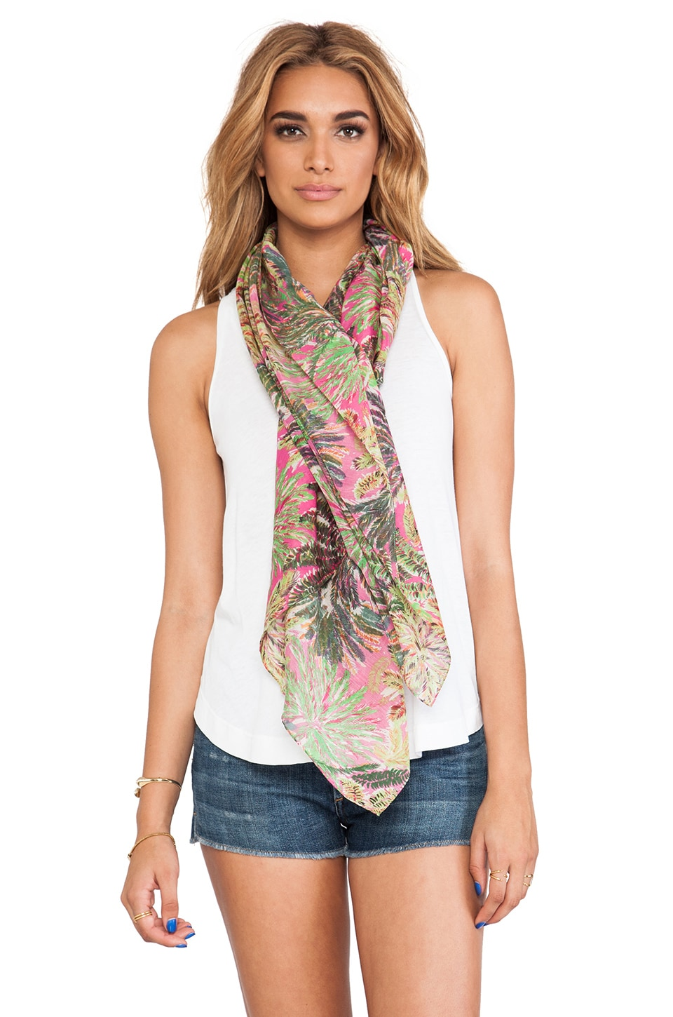FRONT ROW SOCIETY Scarf in Jardin Paradis