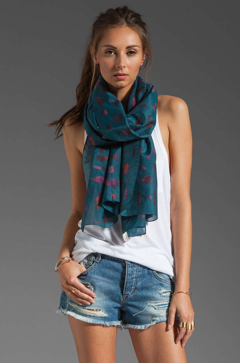FRONT ROW SOCIETY Sweet Sweetback Scarf in Black