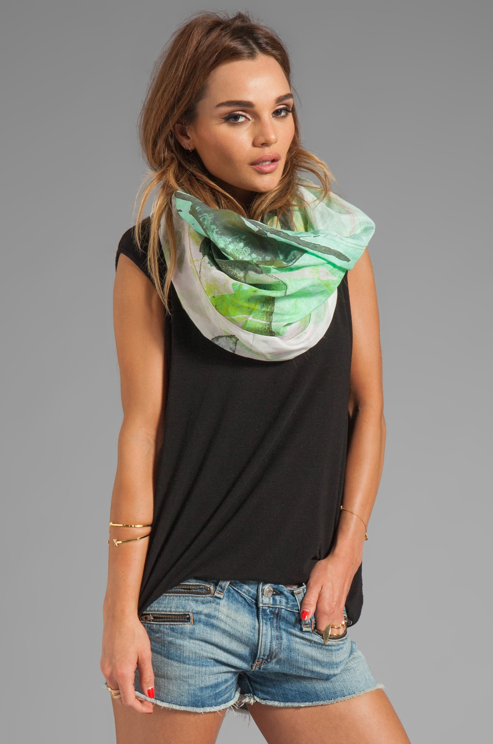FRONT ROW SOCIETY Remist Scarf in Multi
