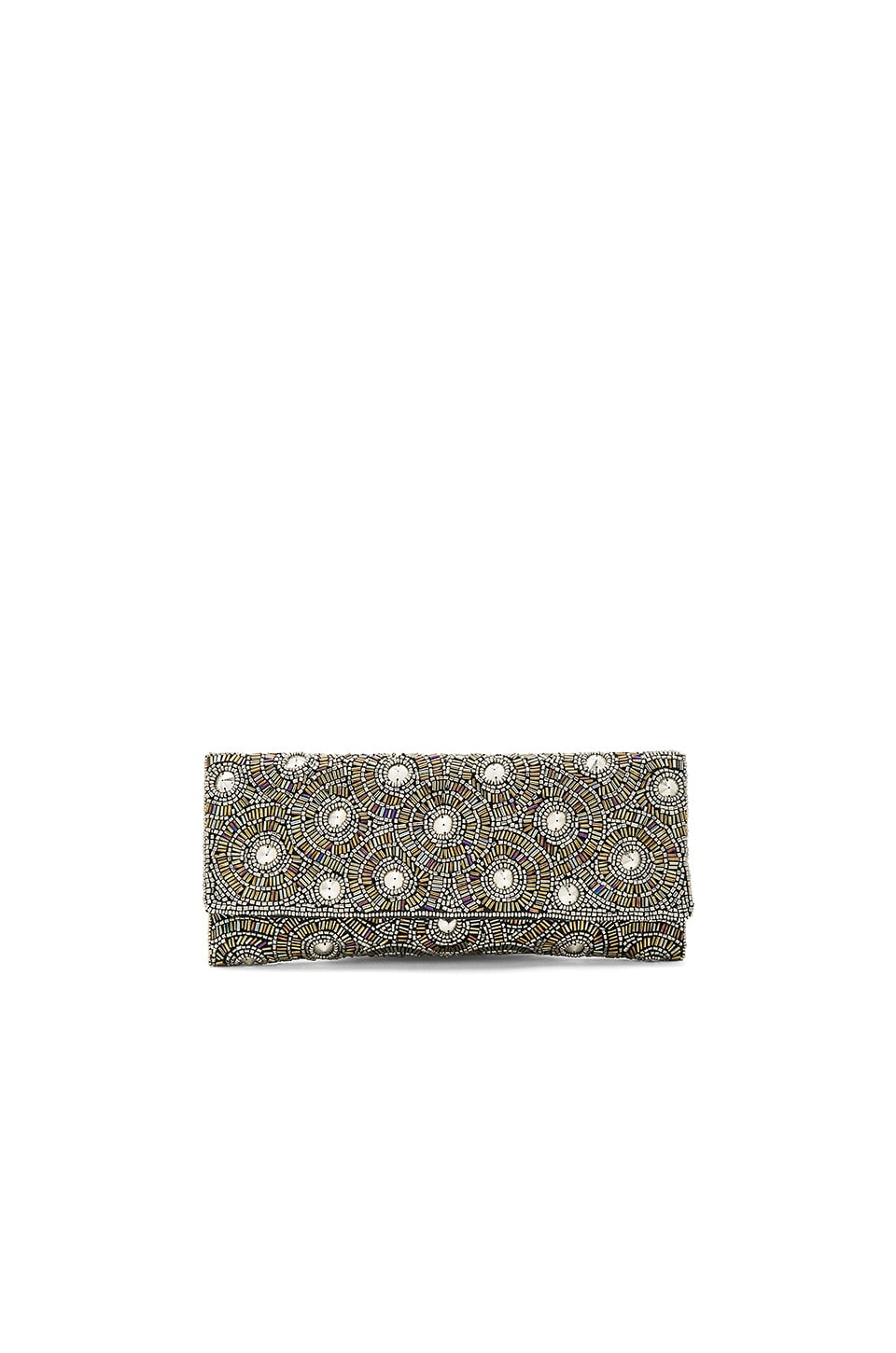 From St Xavier Demi Clutch in Silver