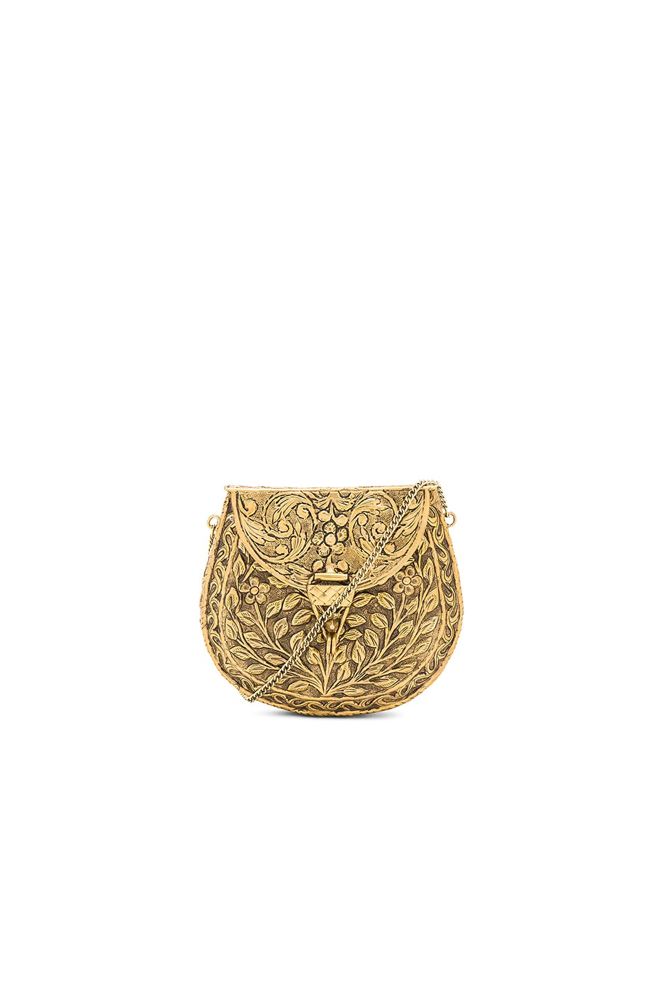 From St Xavier Silva Clutch in Gold
