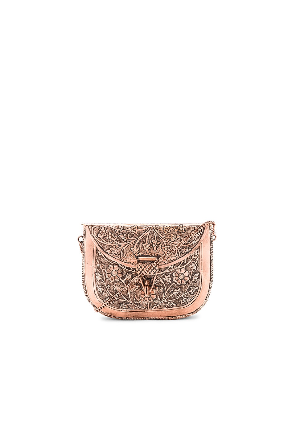 From St Xavier x Revolve Riley Clutch in Rose Gold