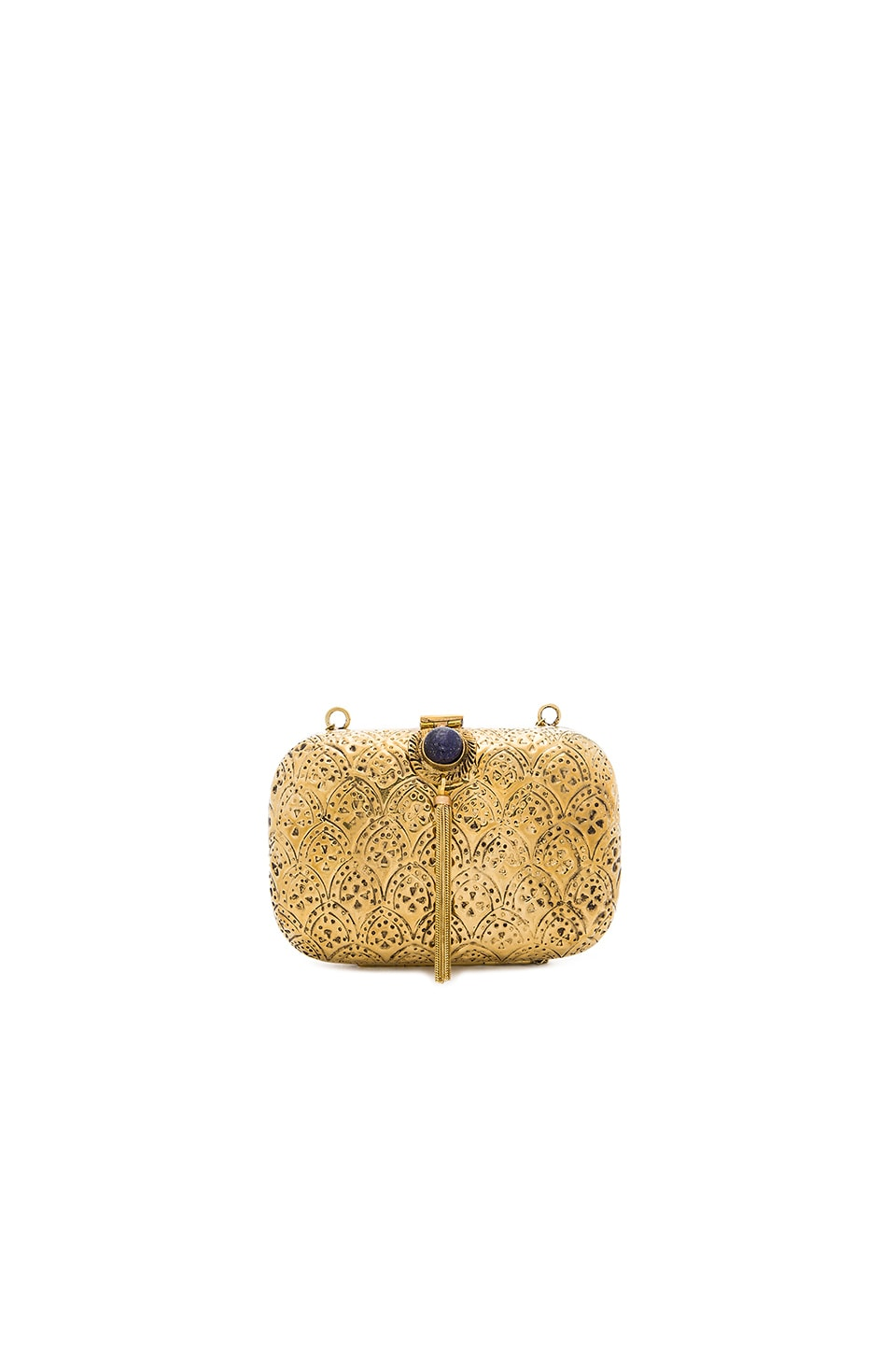 From St Xavier Tasha Clutch in Gold