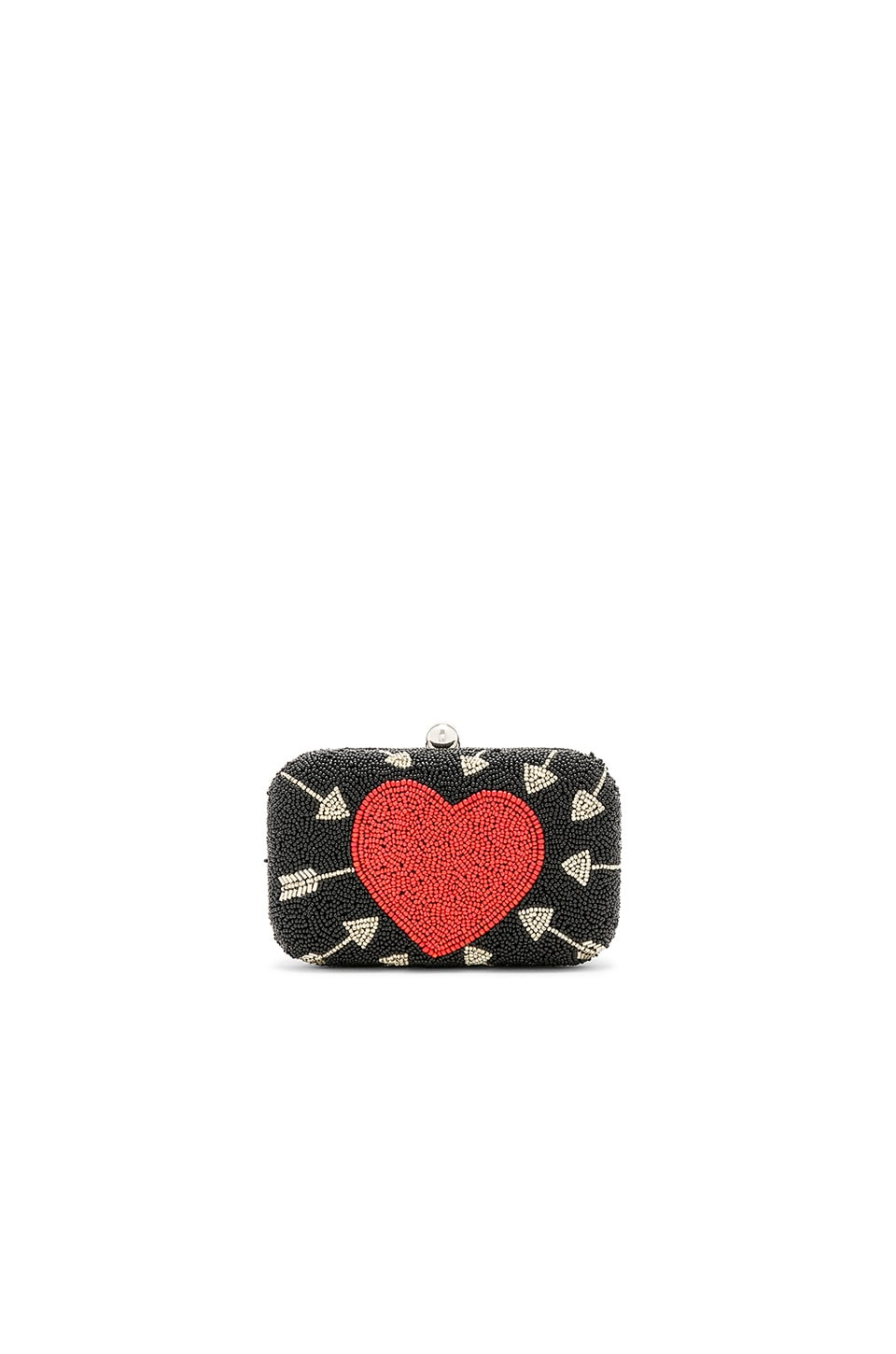 From St Xavier Cupid Box Clutch in Black & Red