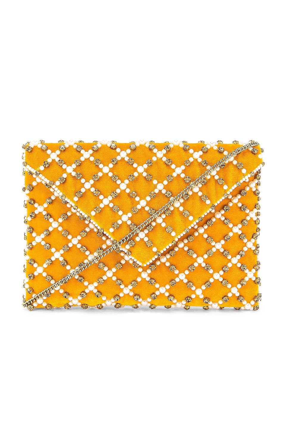From St Xavier Baxter II Clutch in Yellow