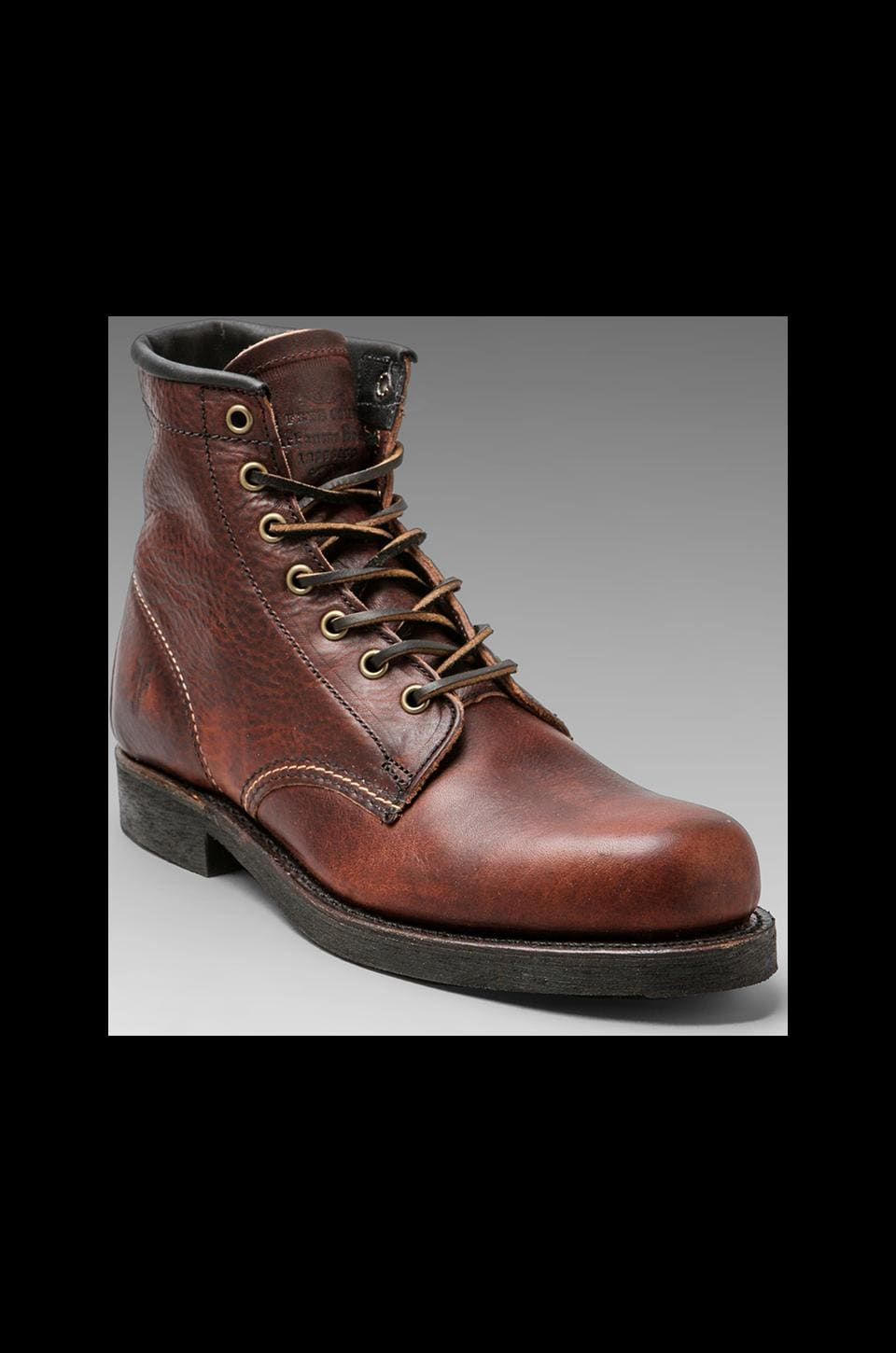Frye Arkansas Mid Lace Boot in Chestnut