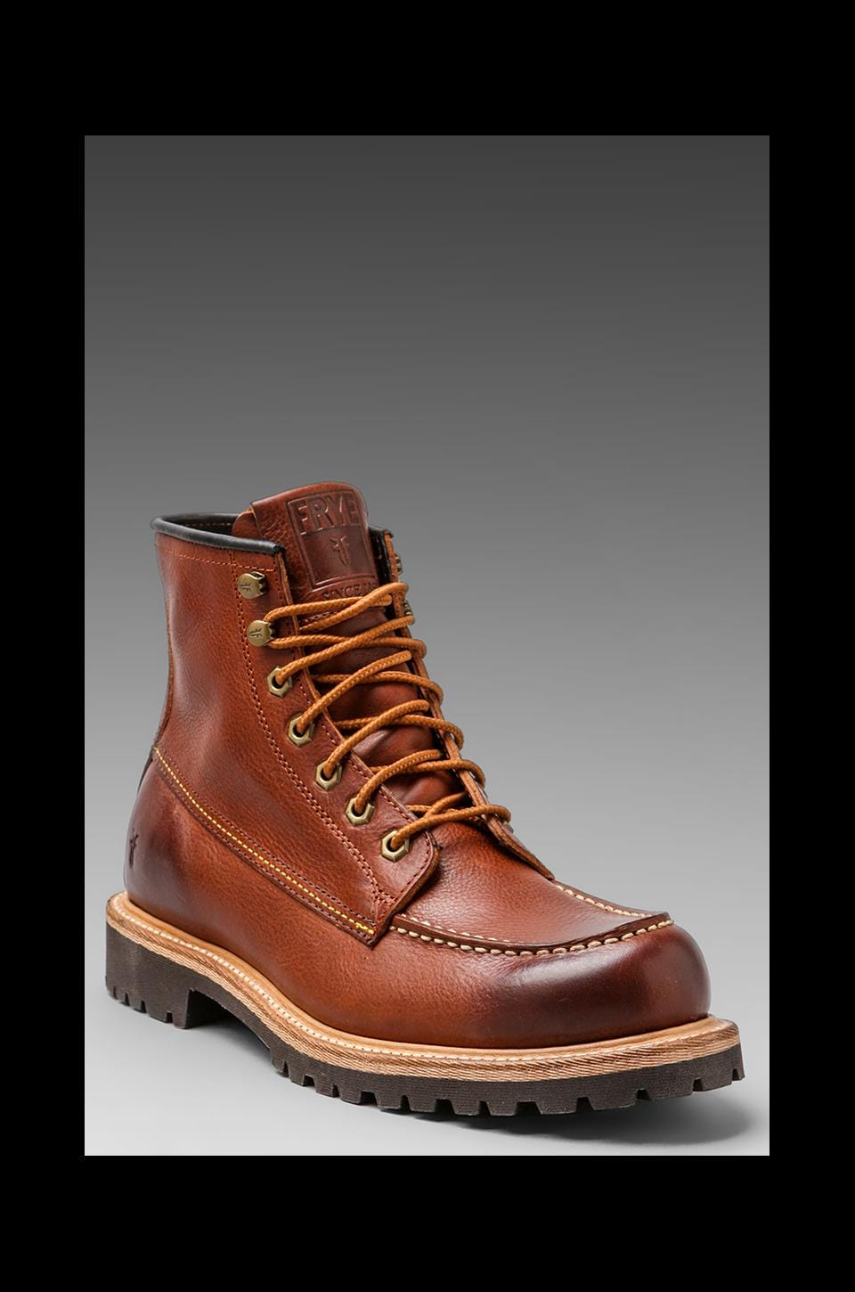Frye Dakota Mid Lace Boot in Redwood