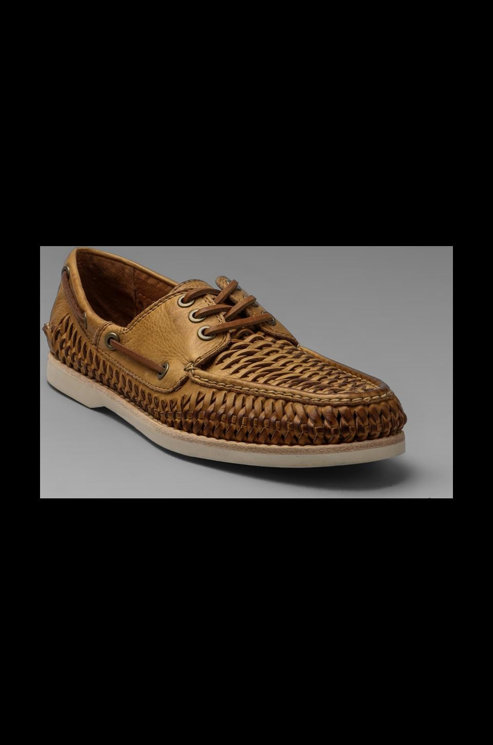 Frye Sully Woven Boat Shoe in Tan