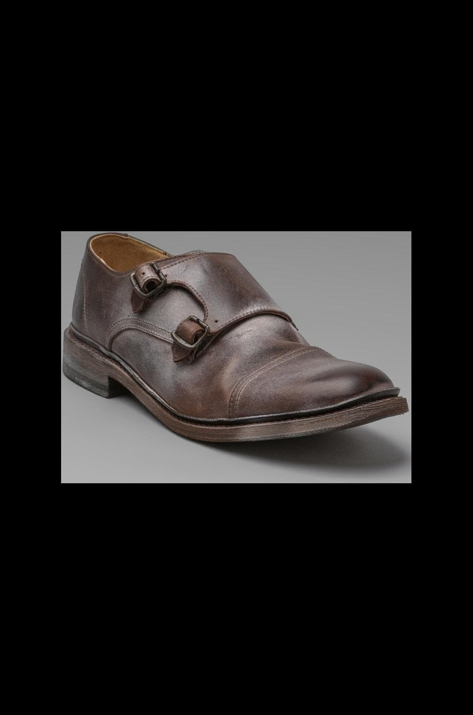 Frye James Double Monk in Dark Brown