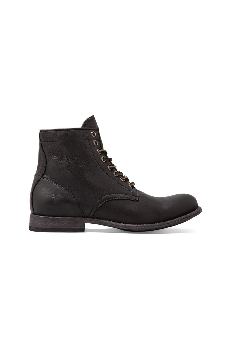 Frye Tyler Lace Up Boot in Black